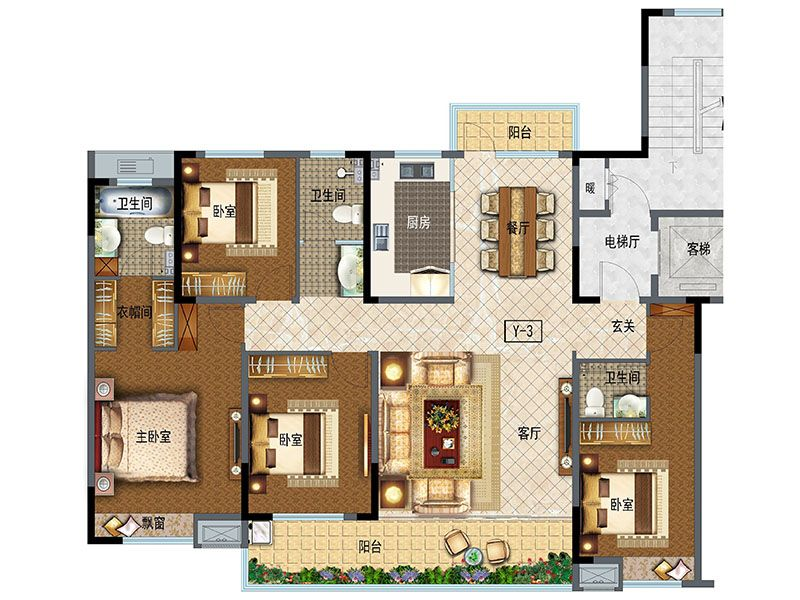 洋房175(4室2厅3卫)