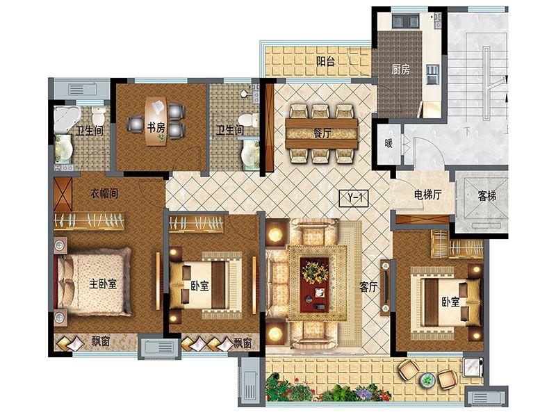 洋房148(4室2厅2卫)