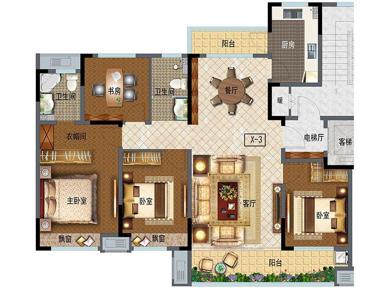 小高层145(4室2厅2卫)