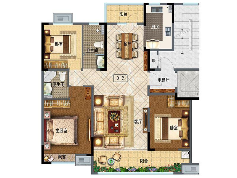 小高层138(3室2厅2卫)