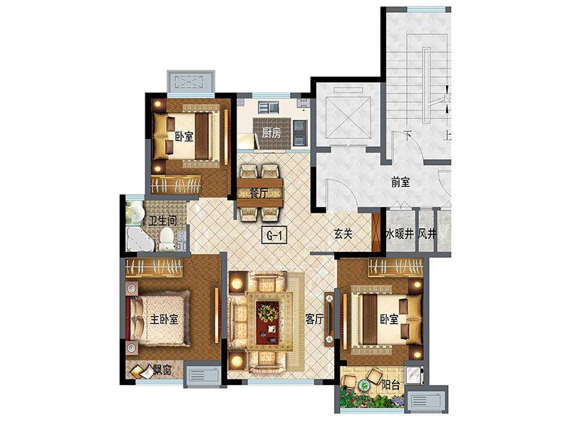 高层95(3室2厅1卫)