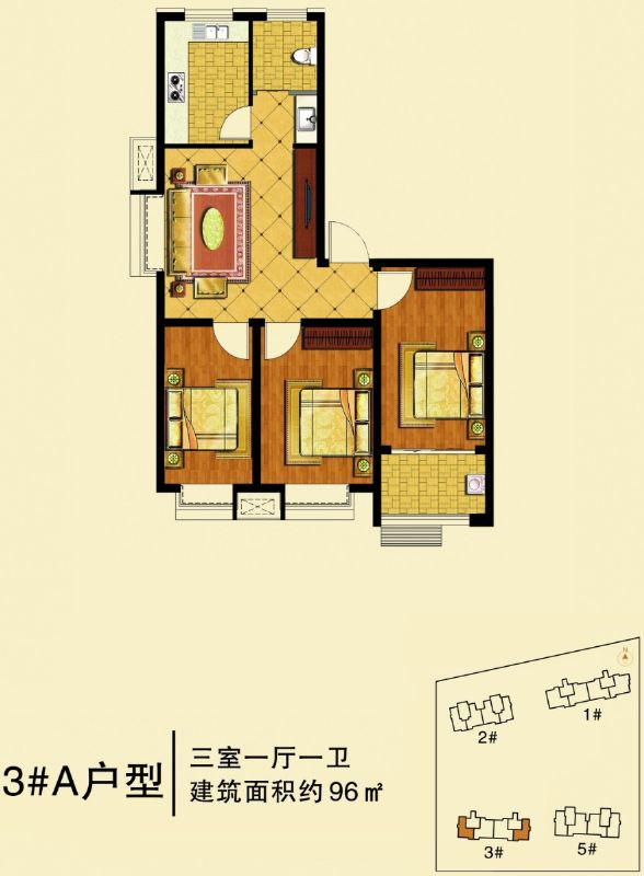高层96(3室1厅1卫)