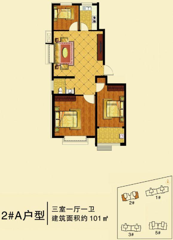 高层101(3室1厅1卫)