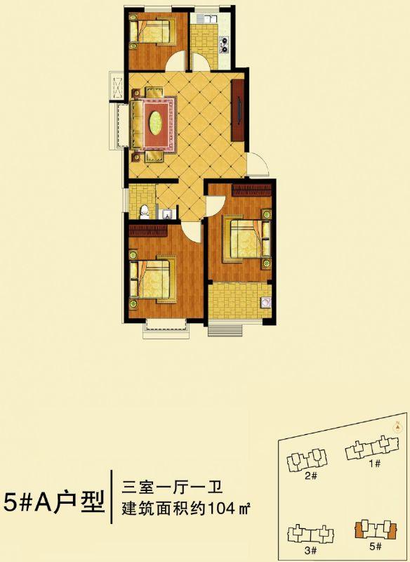 高层104(3室1厅1卫)